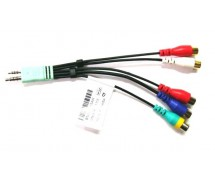 Komponent / kompozit kabel 2x JACK 4 PIN - 5x CINCH LED SAMSUNG